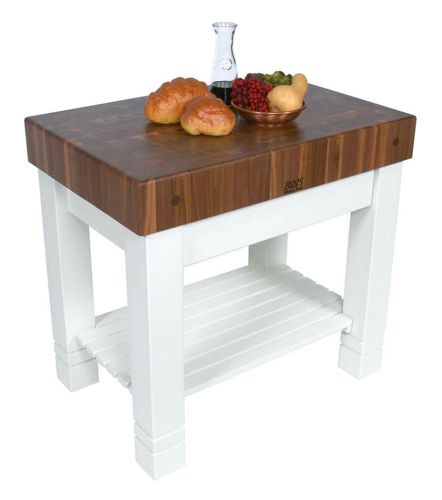 butcher block table boos walnut homestead butcher block, alabaster base - 36 KMVQRGY
