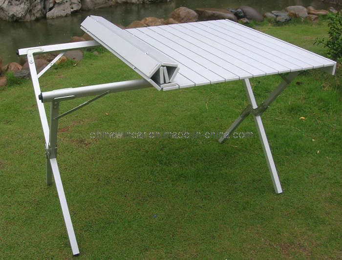 Camping Table Folding Aluminum Portable Bench Roll Up Picnic Beach Table.  Http://