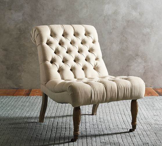 carolyn tufted slipper chair | pottery barn USPDRPO