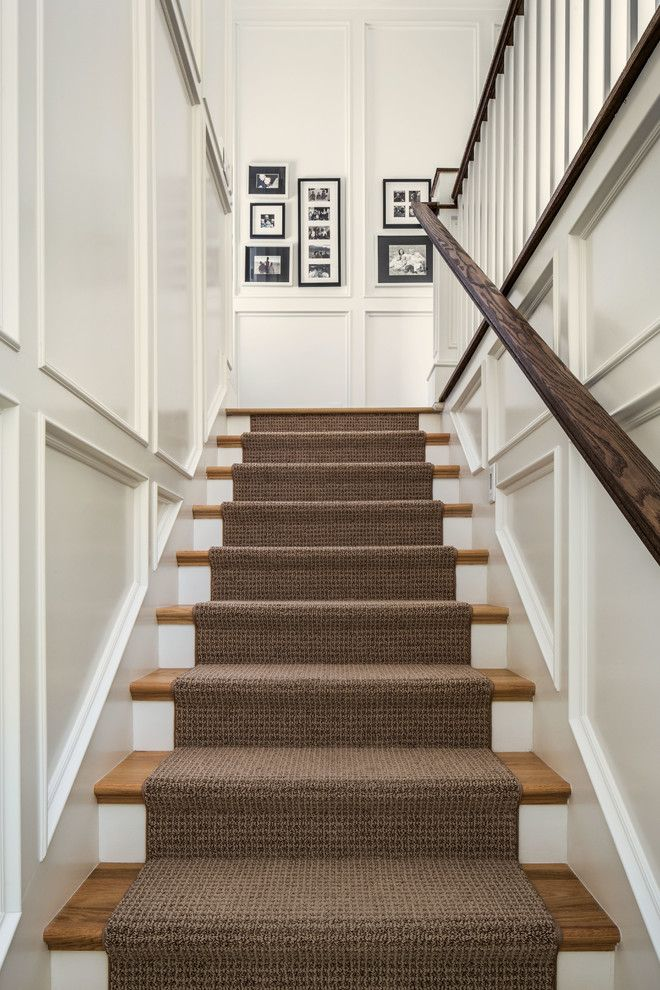 Attrayant Carpet Runners Carpeting Stairs Staircase Traditional With Black And White  Photography Brown Runner Recessed ZSXHLZW
