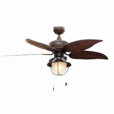ceiling fans with lights oasis 48 in. indoor/outdoor oil rubbed bronze ceiling fan GLFWFMO