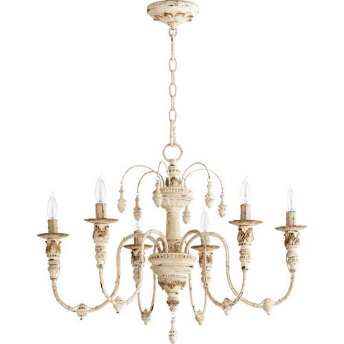 chandeliers salento persian white 25-inch six light chandelier TTZBNTA