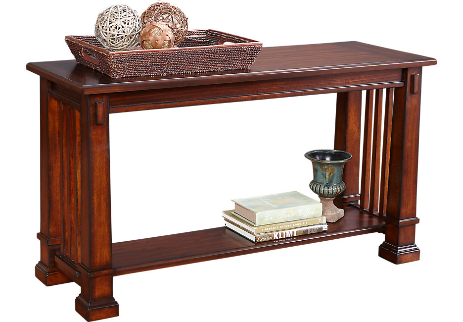 clairfield tobacco sofa table GMFTKPE