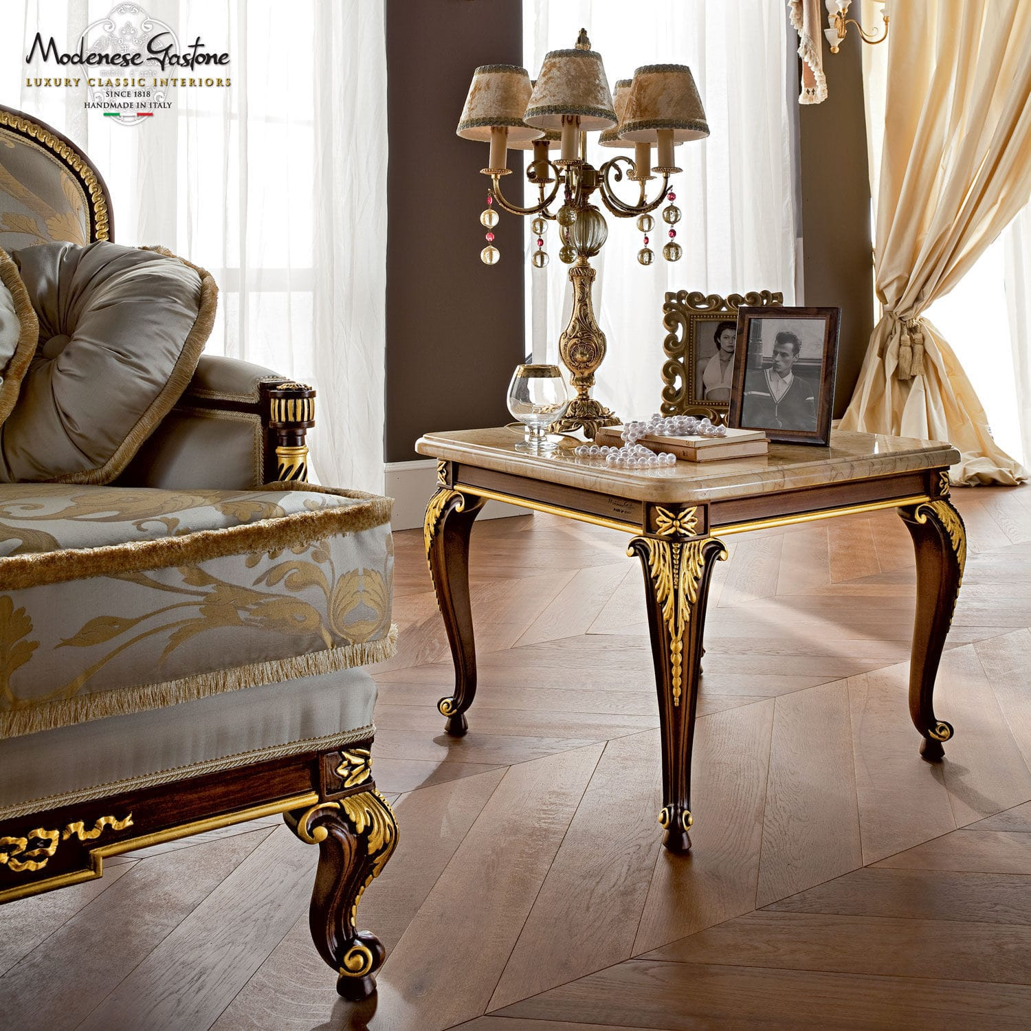 classic furniture ... classic side table / wooden / metal / marble casanova modenese gastone FXMHULL