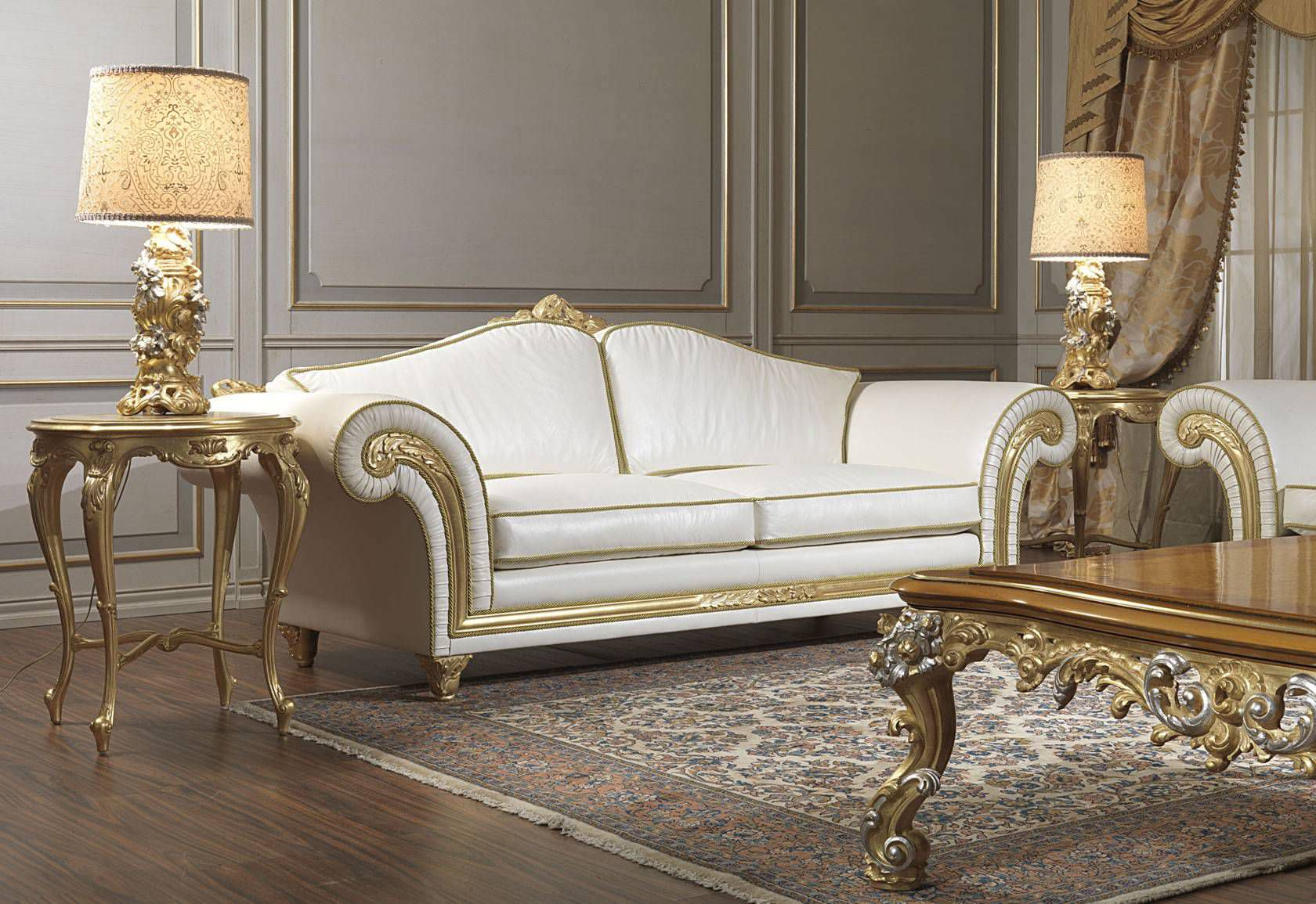classic furniture classic sofa / leather / 2-seater / white imperial vimercati meda luxury classic KHJWGNF