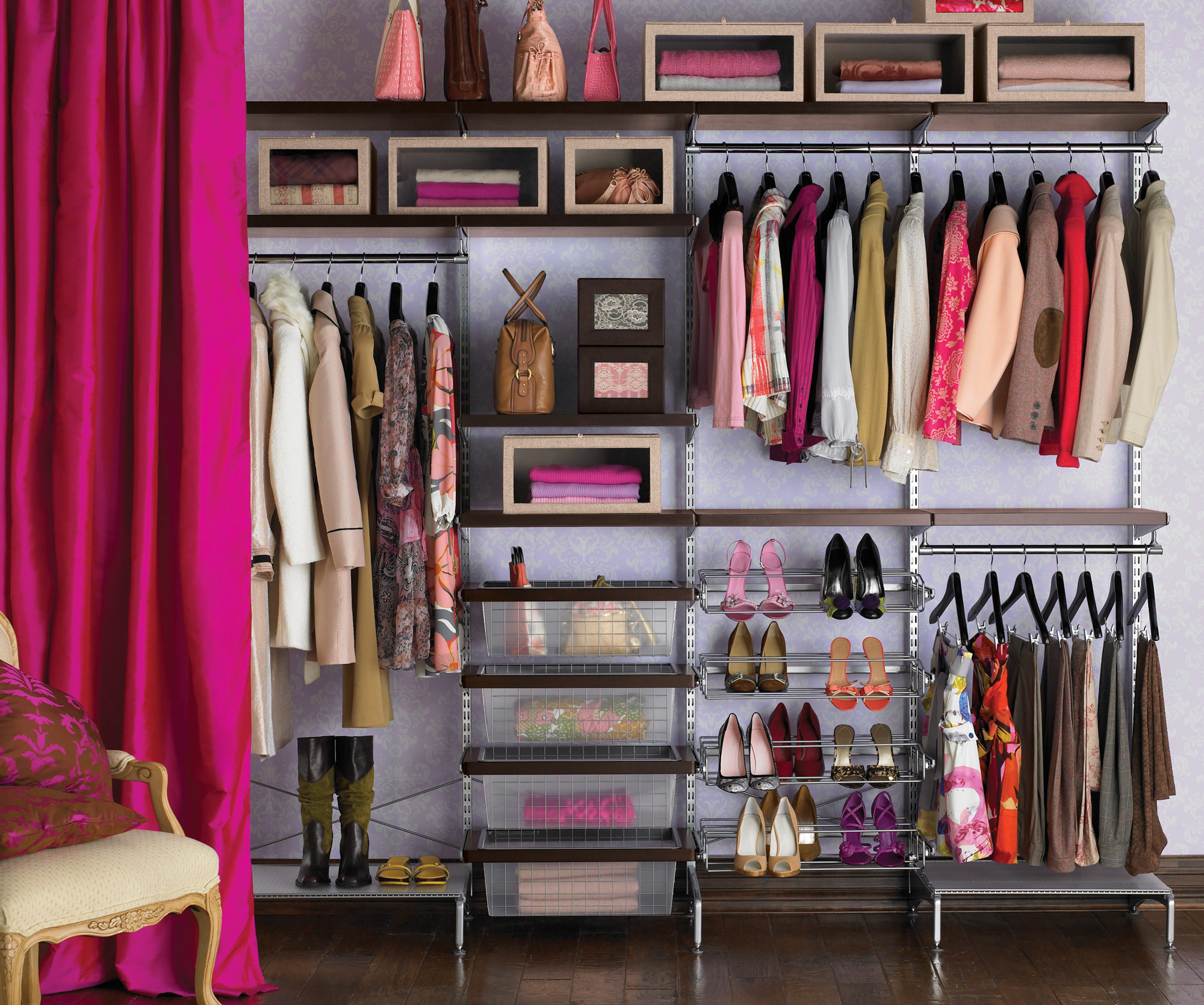closet organization 1. pretty in pink VSAXNOM