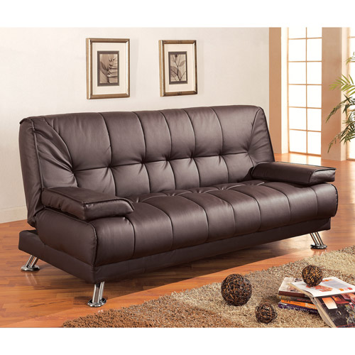 convertible sofa braxton leatherette sofa bed, brown UEZGNWR