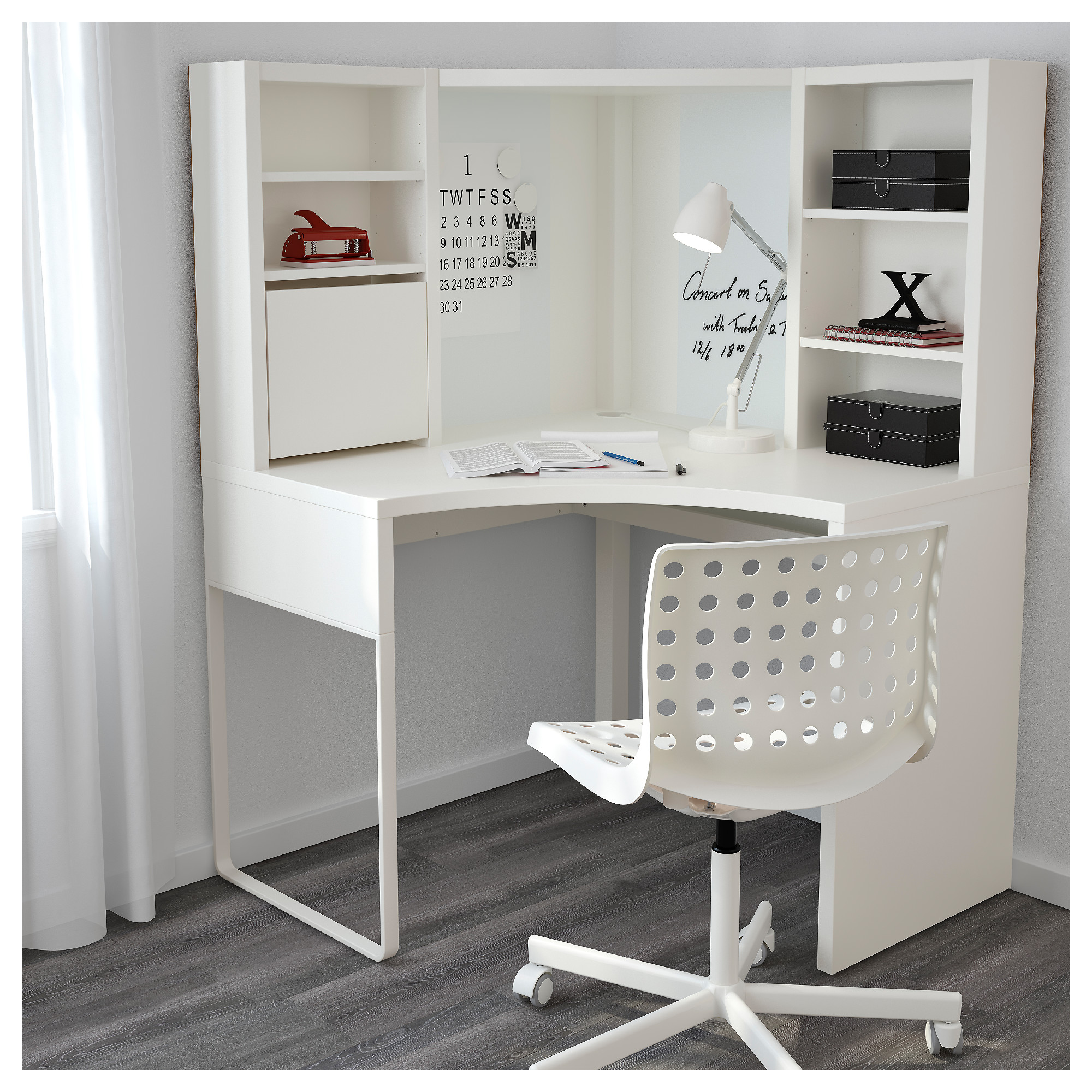 corner desk micke corner workstation - white - ikea MLKKJGF