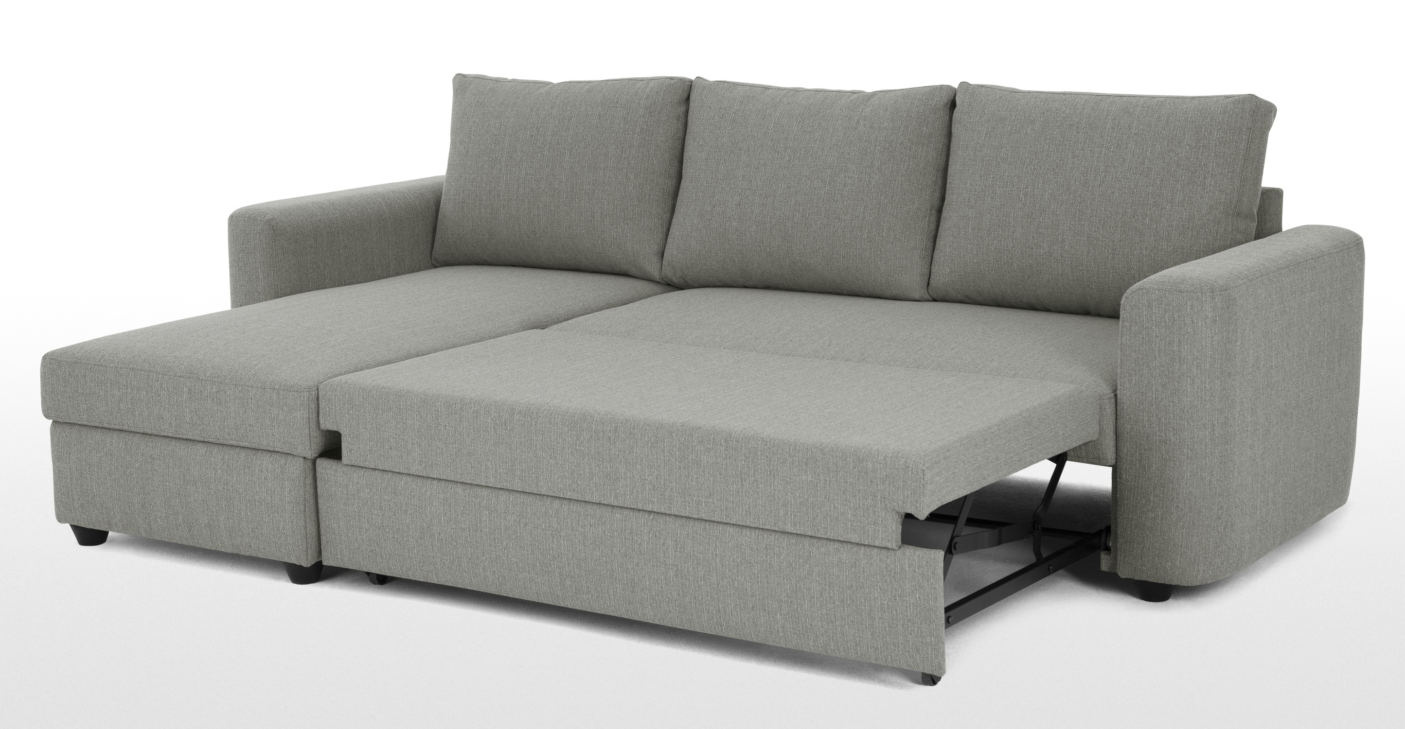 corner sofa bed aidian corner storage sofa bed, silver grey | made.com TTLIRPD