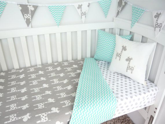 cot bedding giraffe nursery set - choose your own colour scheme WOIGRGJ