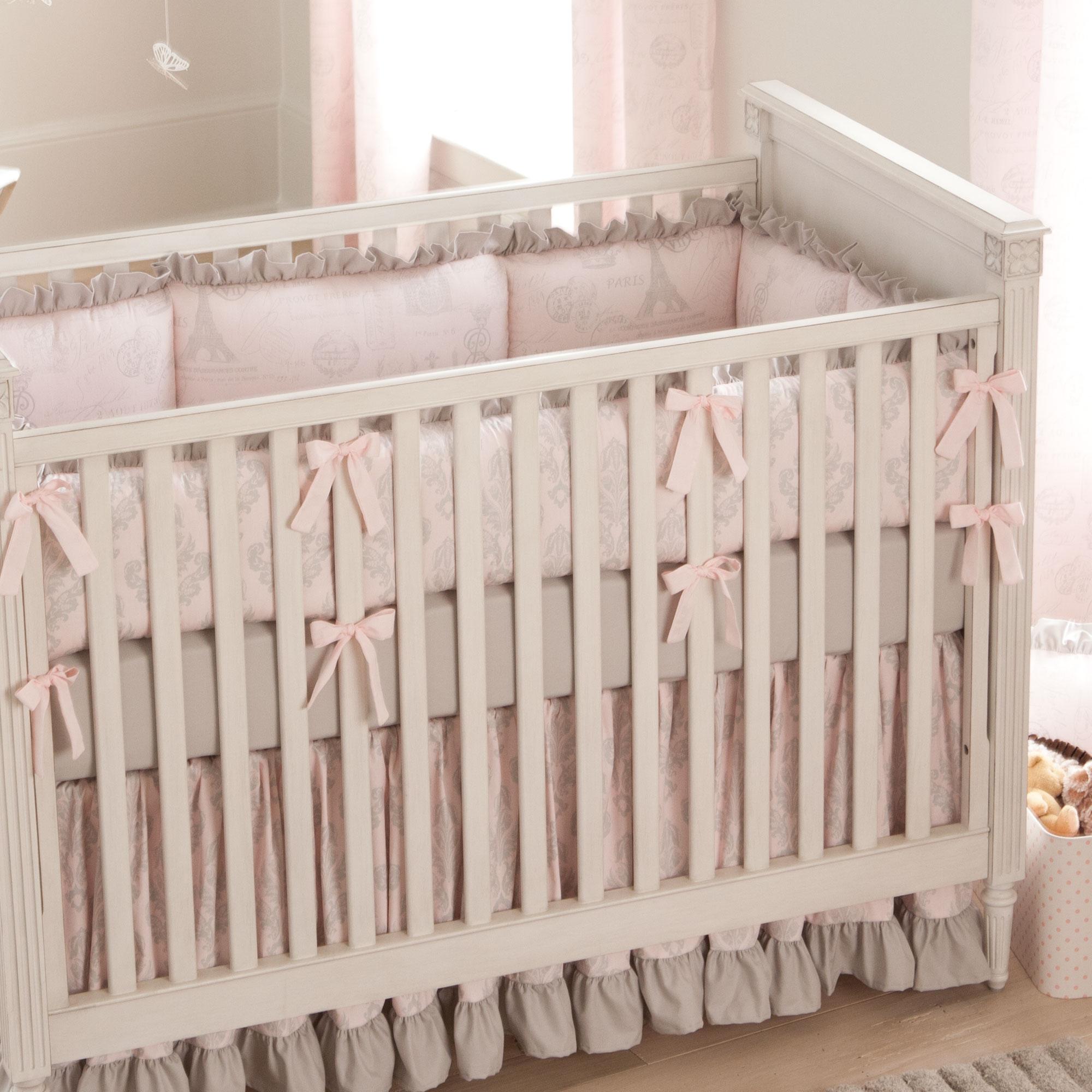 cot bedding paris script baby crib bedding KWTWSXF