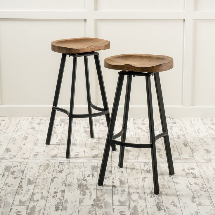 counter height stools albia swivel barstool (set of 2) by christopher knight home (brown) ( JNKYRDF