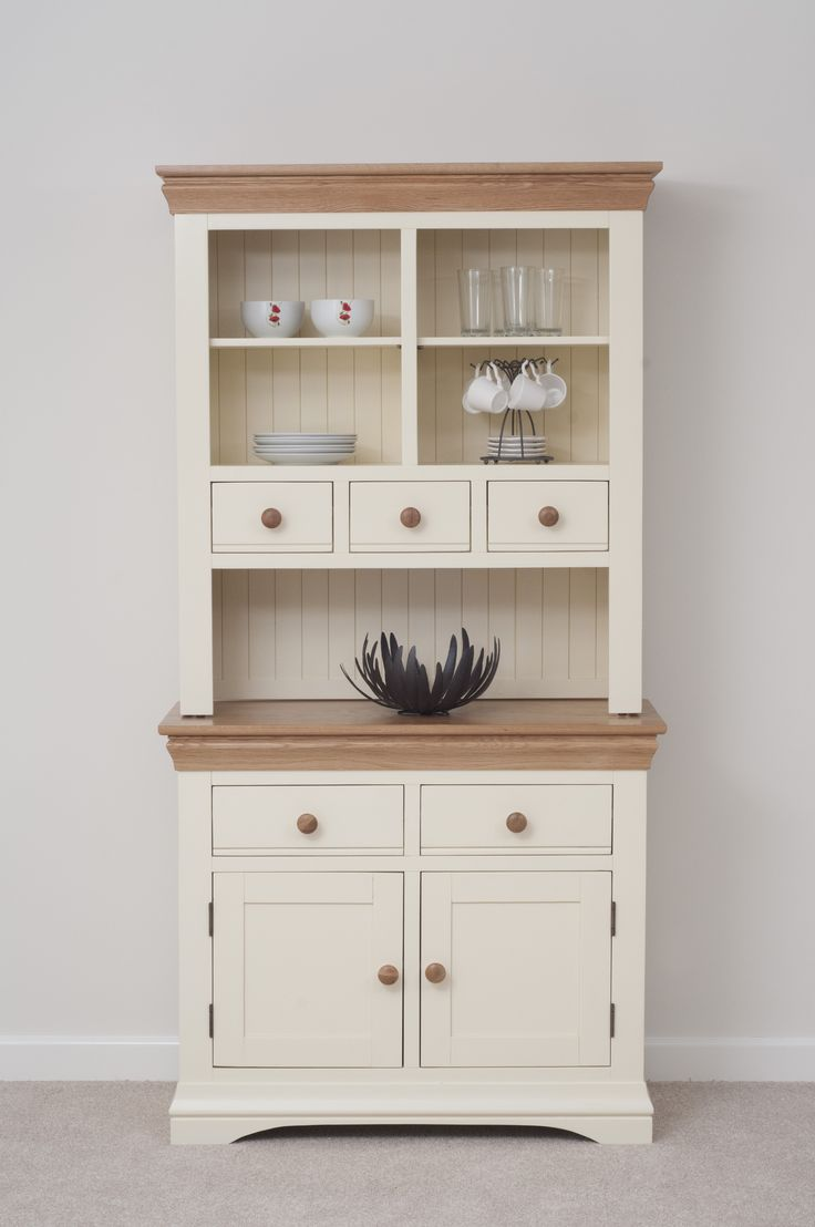 country cottage painted funiture cabinet | cream welsh dresser oak  furniture land IXYGJIU