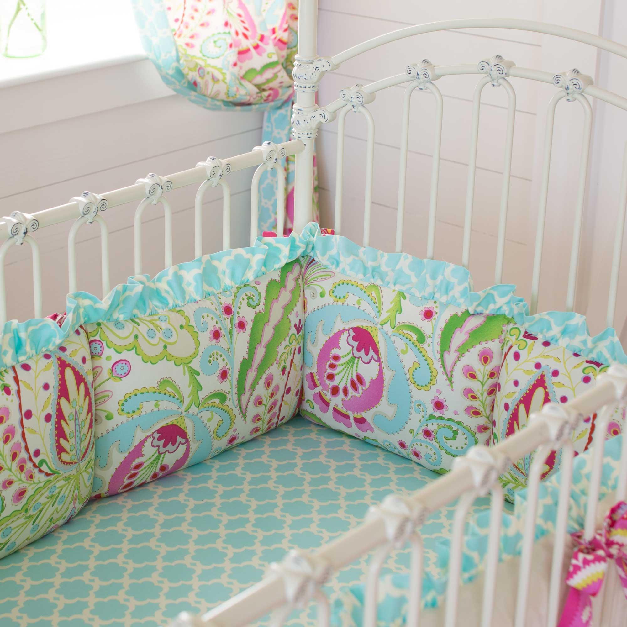 crib bumpers kumari garden crib bumper PBAGCTG