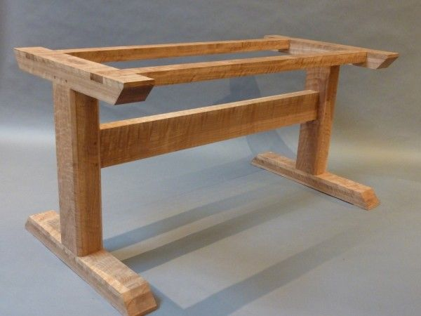 curly oak trestle table: hastening design studio UVFPJDA