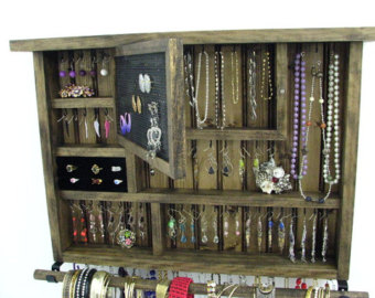 dark walnut jewelry organizer CGFNBOI