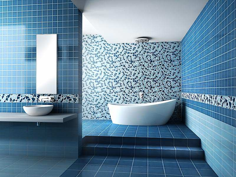 Dazzling Bathroom Wall Tiles Blue Brilliant Dark In Diy Home Interior Ideas  MBDHQGX