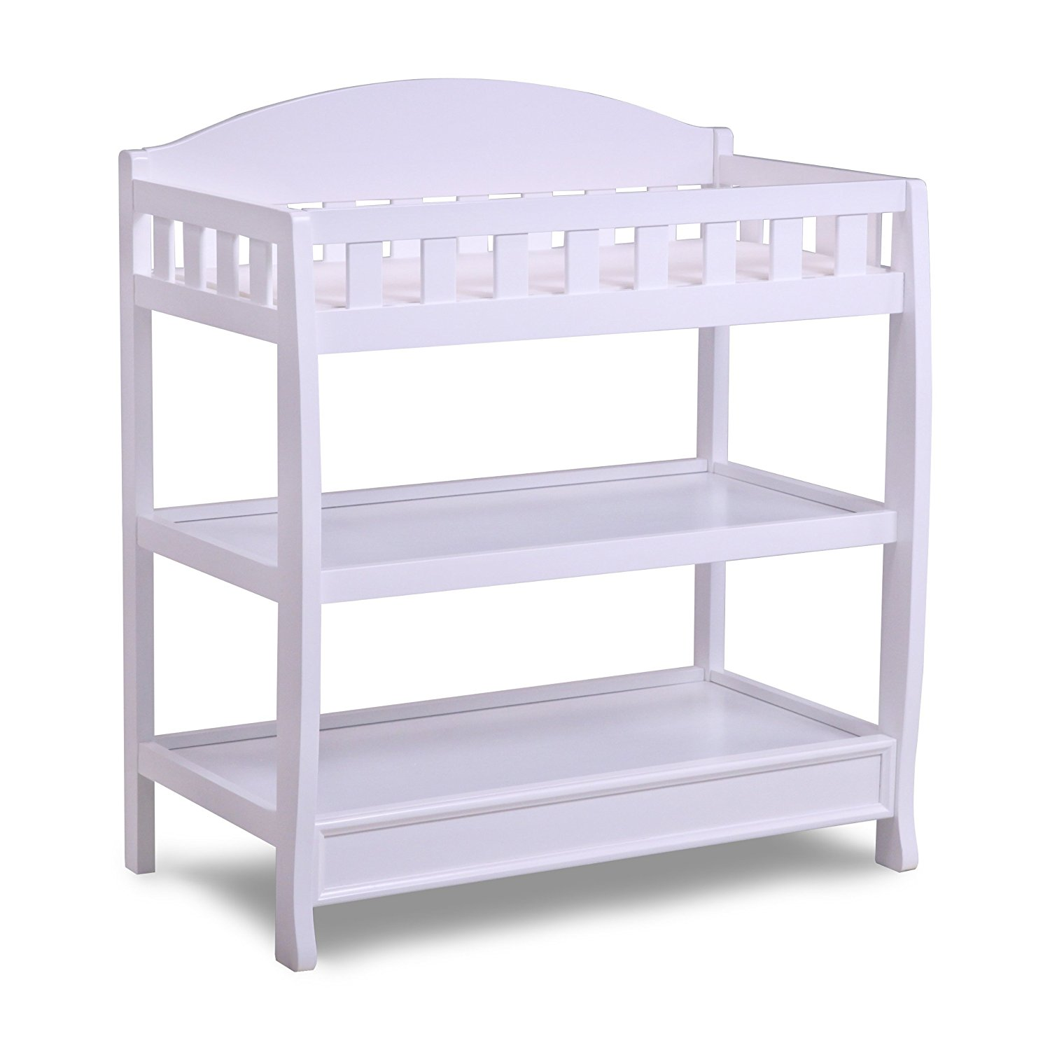 delta children infant changing table with pad, white HXXDLQR