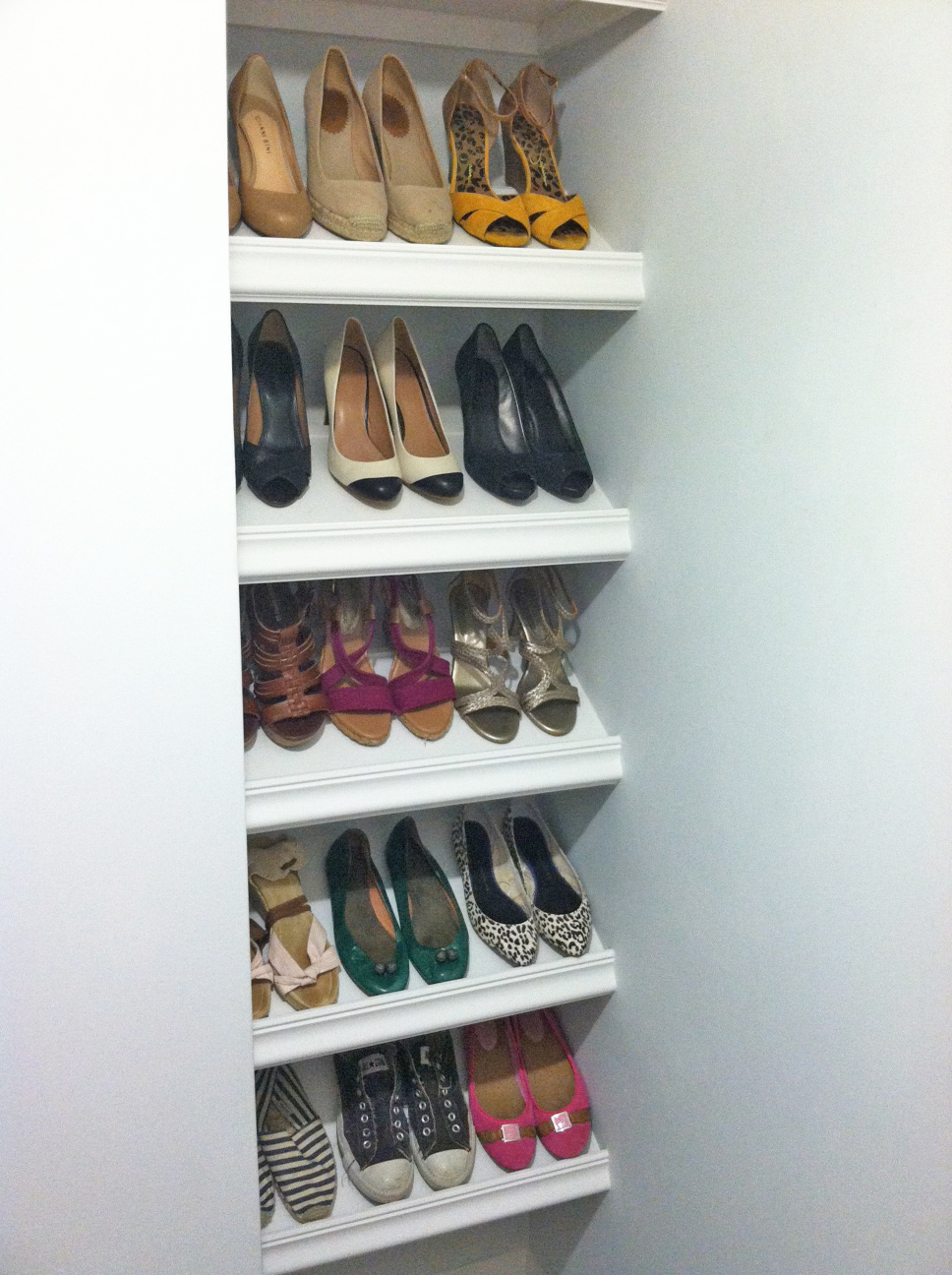 designer shoe shelves on a budget MJRXFPF