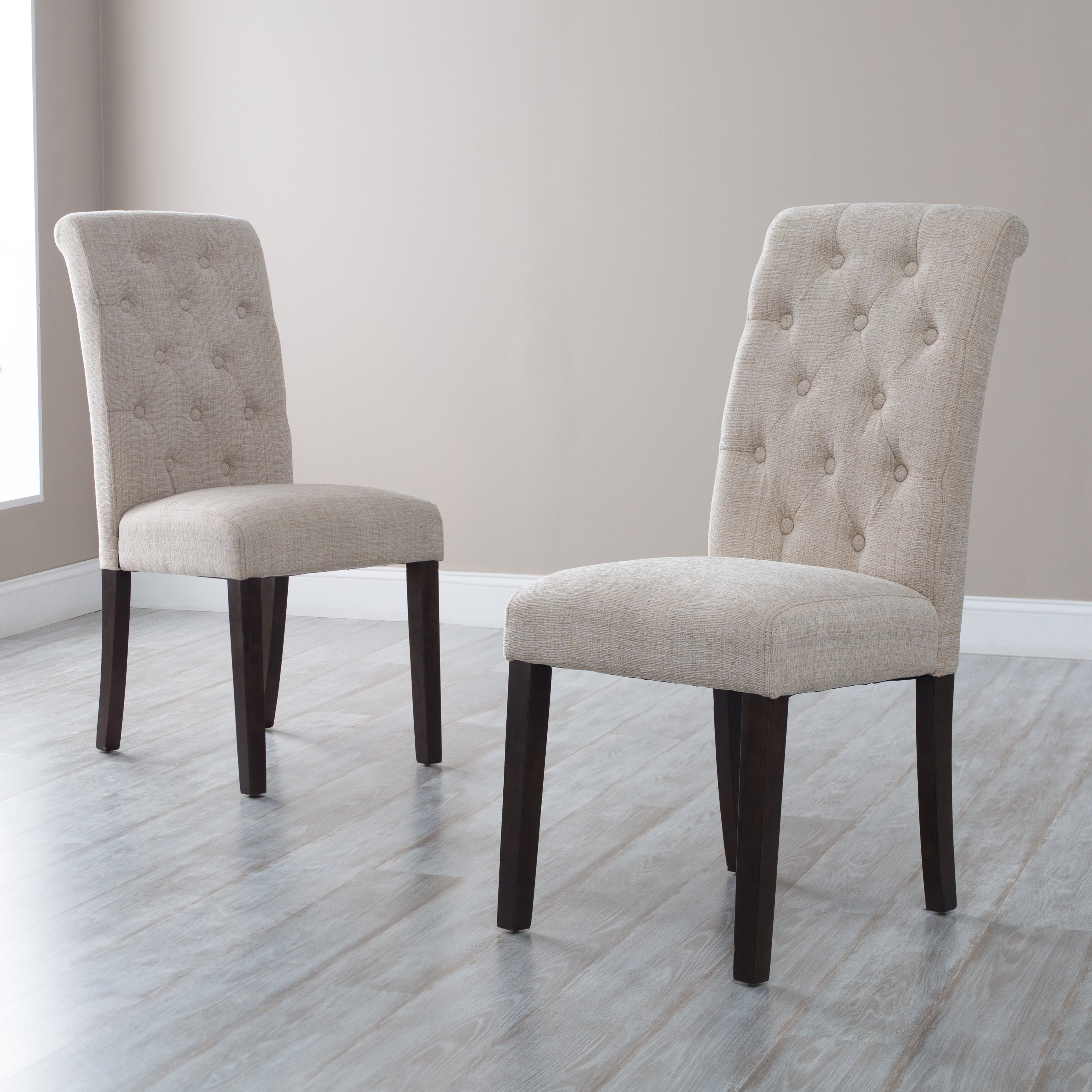 dining chairs morgana tufted parsons dining chair - set of 2 OVGRKVF