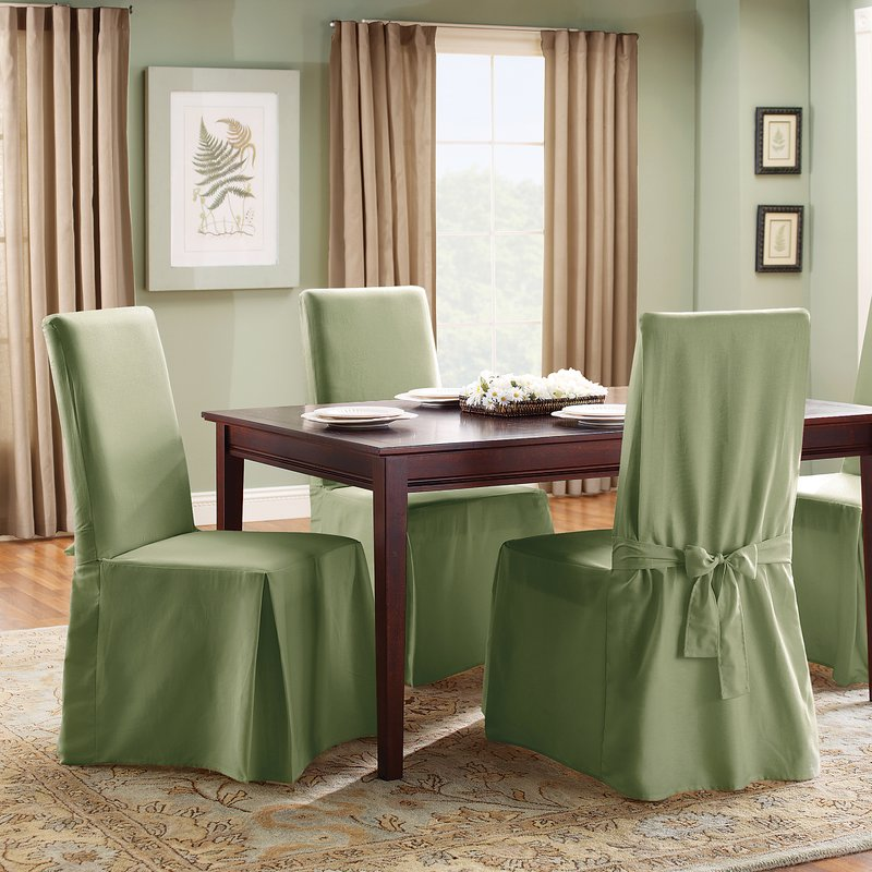 dining room chair covers cotton duck full length dining room chair slipcover SDSVCTH