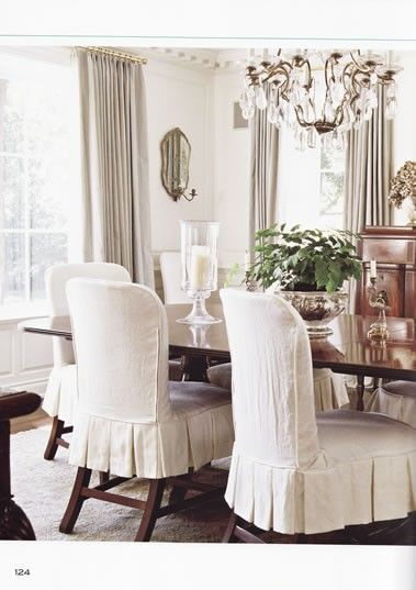 dining room chair covers love these darling chairs. slipcovers for dining ... POZEGSB