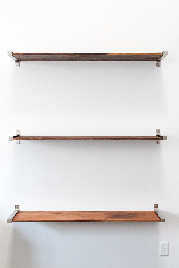 diy ikea hack distressed wooden shelves - sugar u0026 cloth - diy - WMHNRBQ