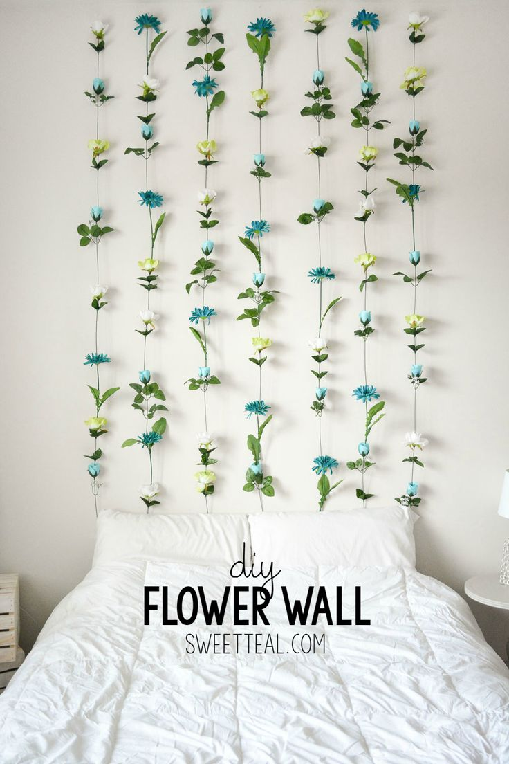 diy room decor diy flower wall // headboard // home decor XUKDZJE