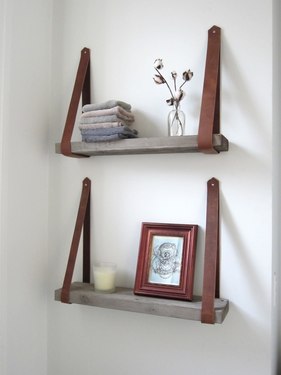 diy shelves diy decorative shelving. leathershelve21 HOLHAGF