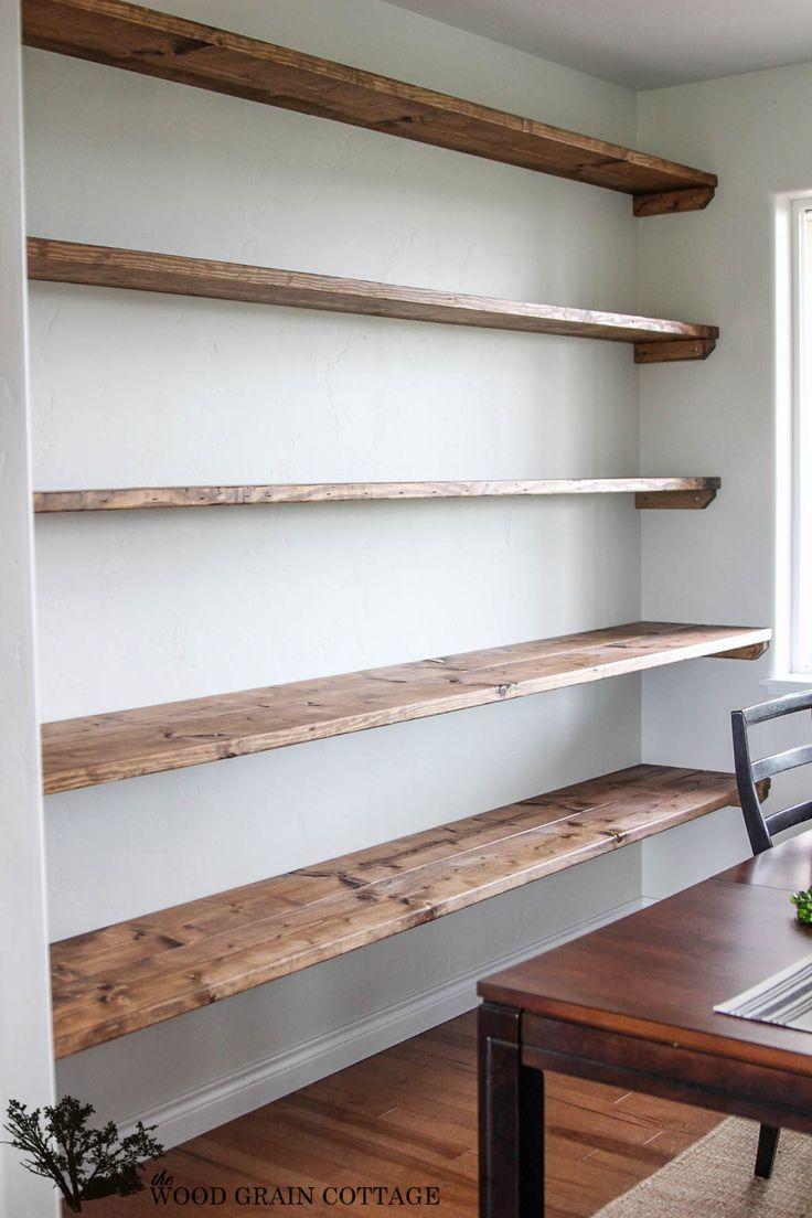 diy shelves diy dining room open shelving WZPGCIP