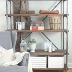 diy shelves industrial-wood-and-pipe-shelving-unit-16 UAMOANG