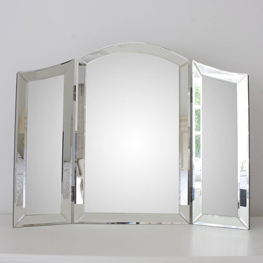 dressing table mirrors all glass dressing table mirror TXOVBJR