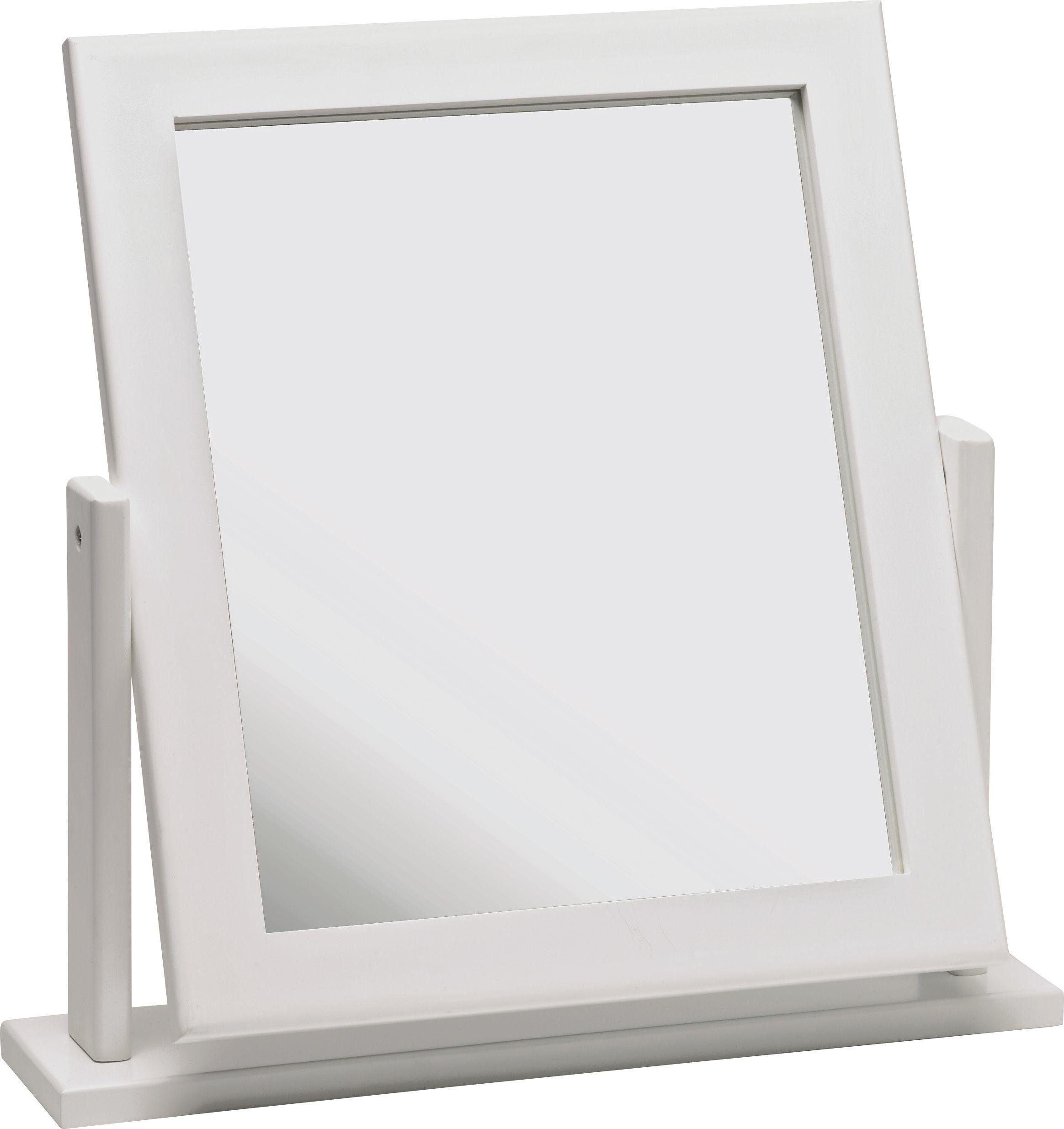 dressing table mirrors home square dressing table mirror - white624/0156 JVMDAIH