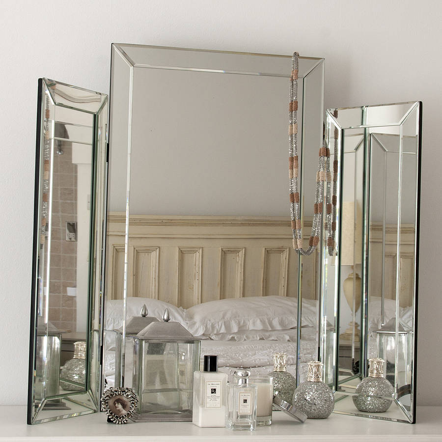 dressing table mirrors large bevelled dressing table triple mirror QDDEMZA