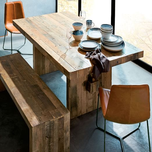 emmerson® reclaimed wood dining table DRPUHSE
