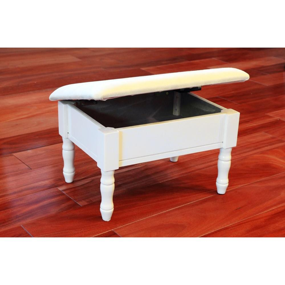 footstool white accent foot stool KOWNGWR
