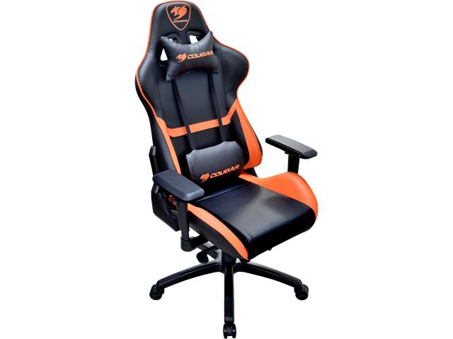 gamer chair cougar armor gaming chair (black and orange) XQFPNGD