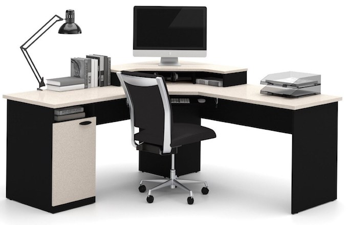 gaming computer desk bestar-hampton-corner-workstation-best-l-shaped-desk ONOTSTS