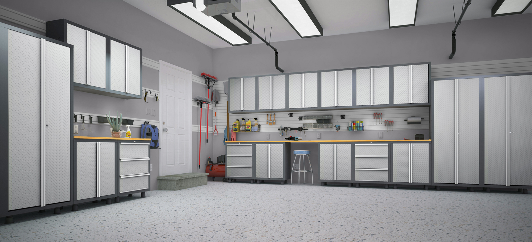 garage cabinets diamond plate garage scene web (1) KCJIGRD