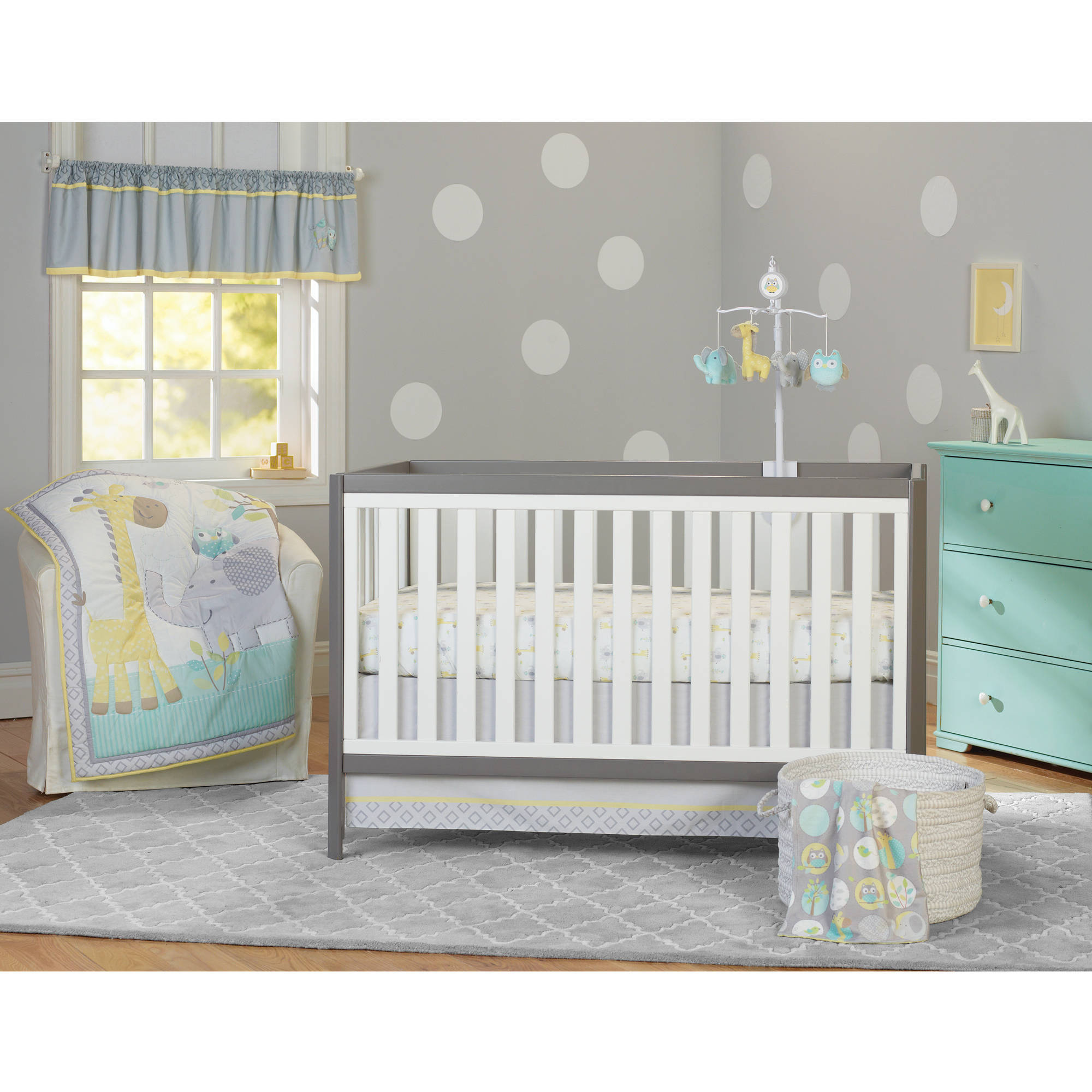 garanimals animal crackers 3-piece crib bedding set - walmart.com WBEHGBS