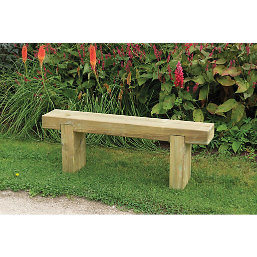 garden benches forest garden sleeper bench 1.2m UXHJEWX