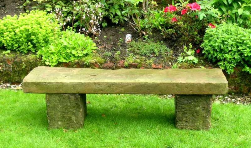 garden benches | ... garden antiques - benches and garden furniture - old OHHGZBW