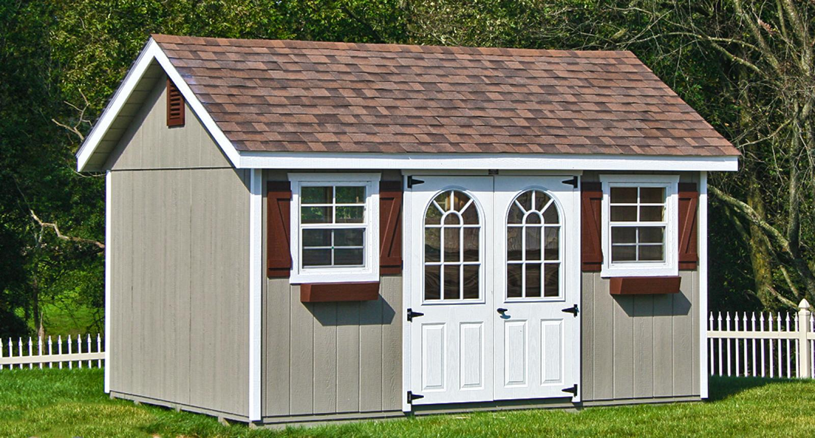 Save space by using storage sheds