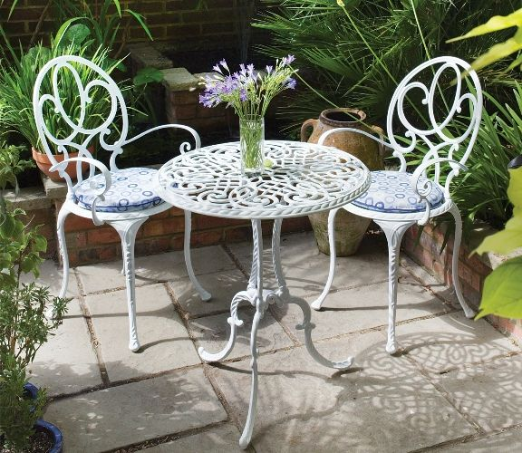 garden table and chairs useful metal garden furniture more QKPYUZK