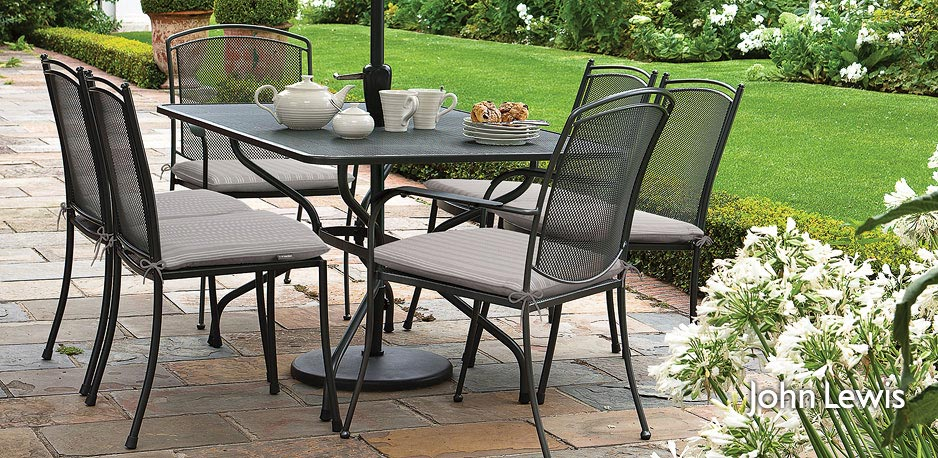 garden table and chairs white garden furniture from john lewis kettler at john lewis ribmufp - Garden Furniture Kettler