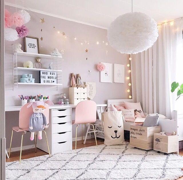girls bedroom ideas a pretty pink girlu0027s room - is ... RFKJEPD