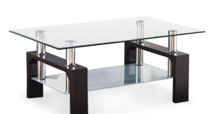 glass coffee table zimtown black