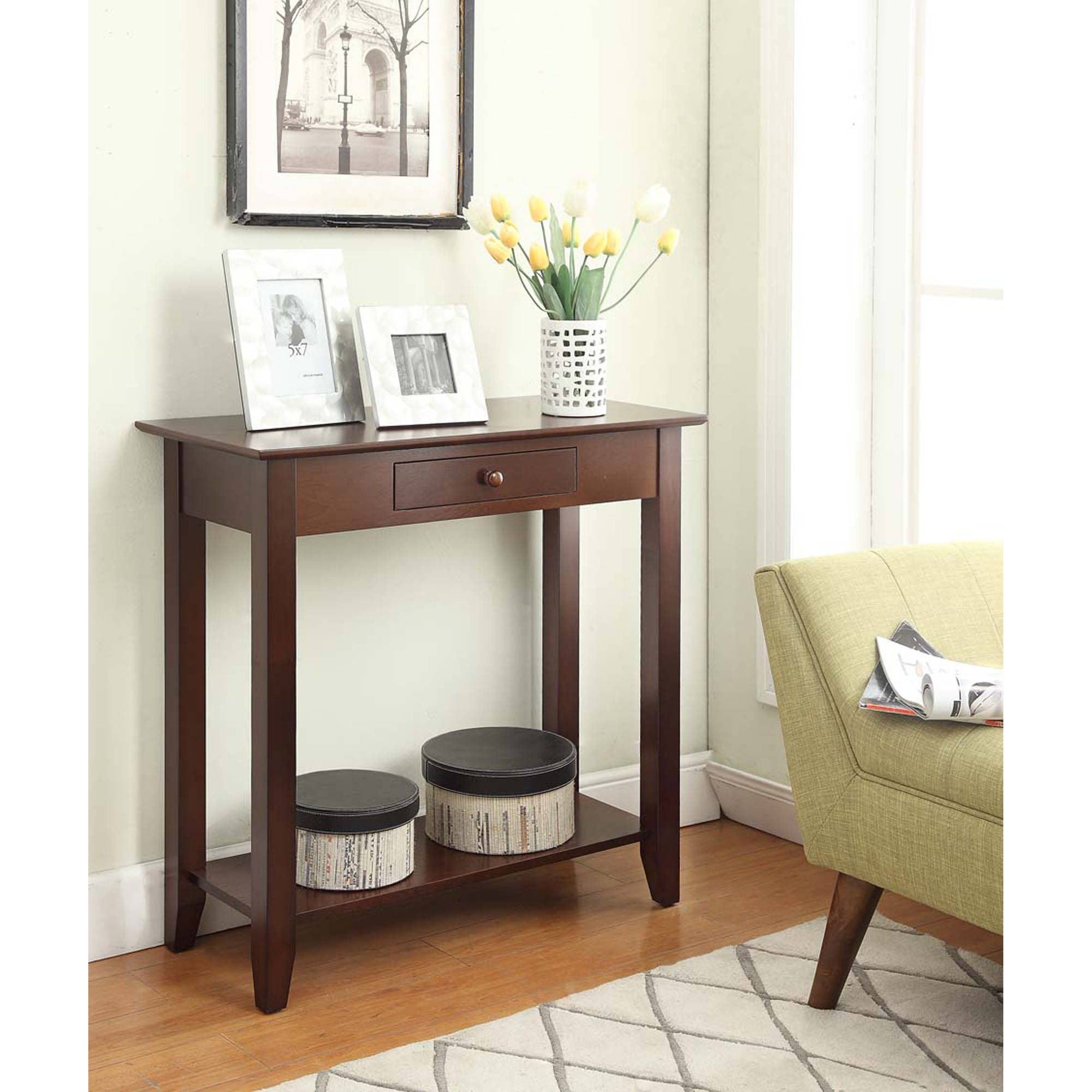 hallway table convenience concepts american heritage hall table, multiple finishes -  walmart.com REHURHX