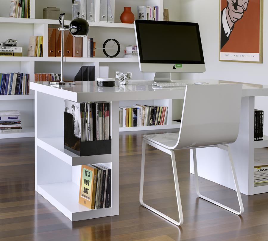 image of: home office desks white THHDVVF