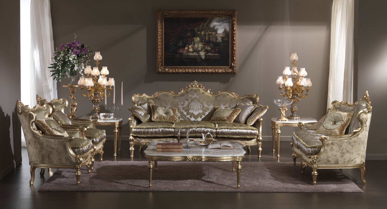 italian living room furniture | ... , italian classic furniture ::  classical IMXQFDE